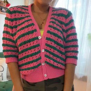 Zara knit cardigan 💚💗
